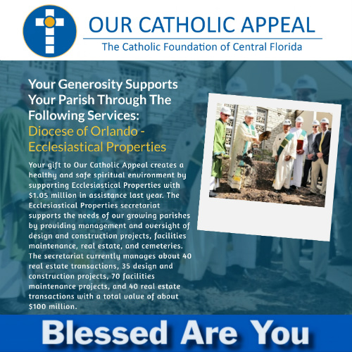 Our Catholic Appeal Ecclesiastical Properties