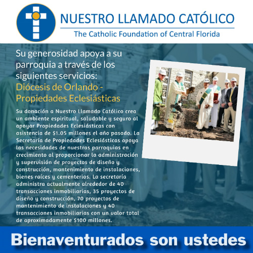 Our Catholic Appeal Ecclesiastical Properties Spanish