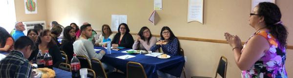 Doris Quinones leads Spanish focus group