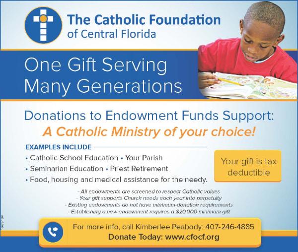 Catholic Foundation Endowment Ad
